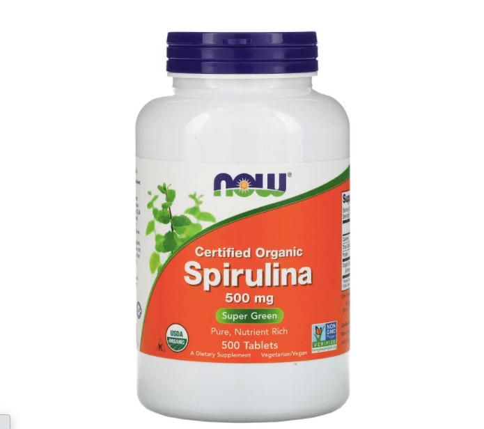 أقراص سبيرولينا العضوية من ناو فودز