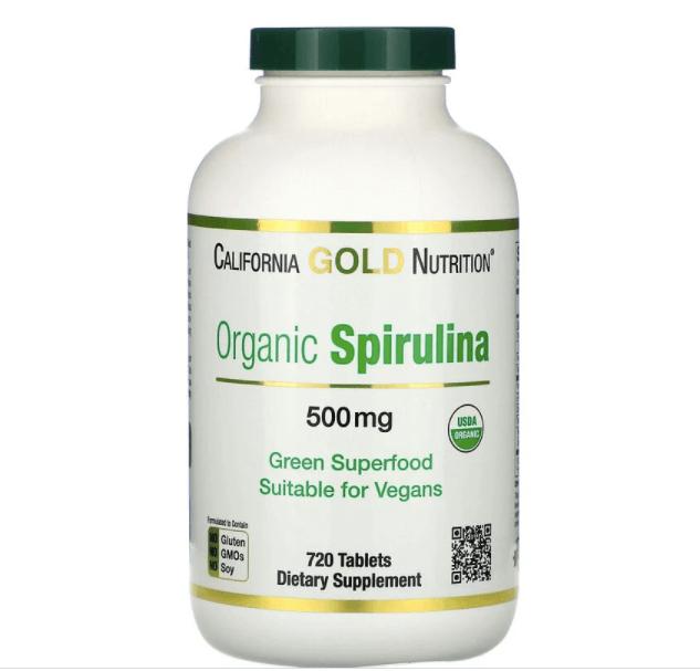 سبيرولينا عضوية، معتمد كمنتج عضوي من وزارة الزراعة الأمريكية